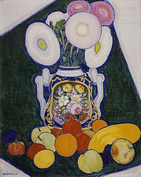 Still life with flowers and fruits | Leo Gestel | Oil Painting