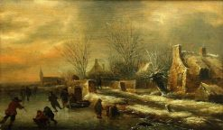 Winter Landscape | Klaes Molenaer | Oil Painting