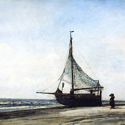 Fishing-Boat on the Beach | Johan Barthold Jongkind | Oil Painting
