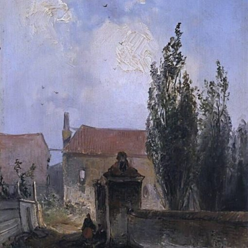 Garden Gate   Johan Barthold Jongkind   Oil Painting