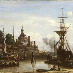 View of the Port of Rotterdam | Johan Barthold Jongkind | Oil Painting