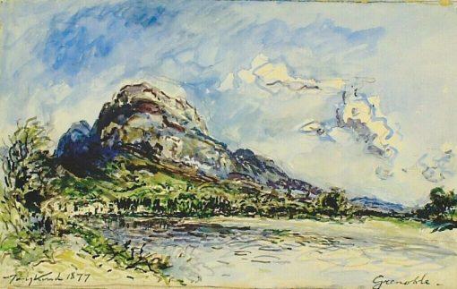 View of Grenoble (bridge and lake) | Johan Barthold Jongkind | Oil Painting