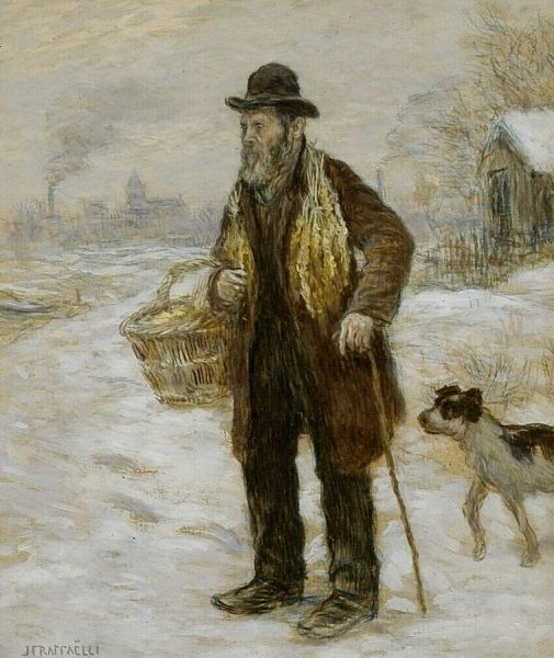 The Pedlar   Jean Francois Raffaelli   Oil Painting