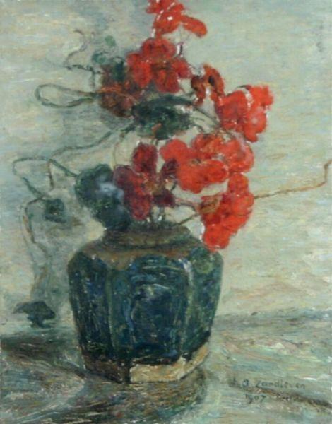 Nasturtiums   Jan Zandleven   Oil Painting