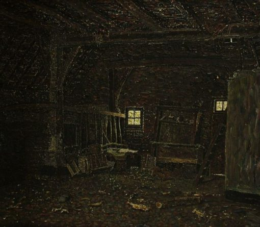 Interior of a Shed | Jan Zandleven | Oil Painting