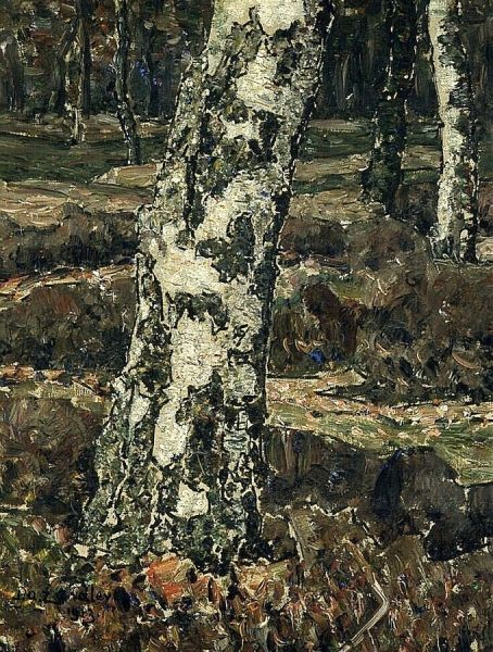Birch Trunk | Jan Zandleven | Oil Painting