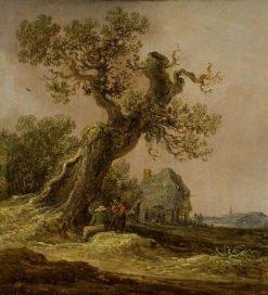Landscape with an Old Oak Tree | Jan van Goyen | Oil Painting