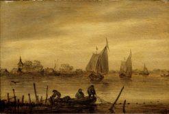 River Scene | Jan van Goyen | Oil Painting