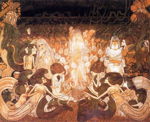 The Three Brides   Jan Toorop   Oil Painting