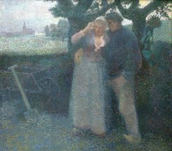 Reflections of the Sunset(also known as Seduction)   Jan Toorop   Oil Painting