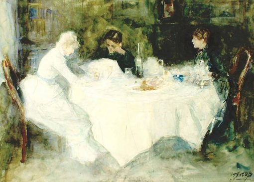 Lunch(also known as Le déjeuner) | Jan Toorop | Oil Painting