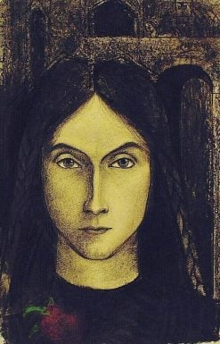 Head of a Girl(also known as Meisjeskopje) | Jan Toorop | Oil Painting