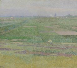 At the Edge of the Dunes(also known as Drying Nets) | Jan Toorop | Oil Painting