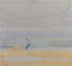 Shell Gatherer on the Beach | Jan Toorop | Oil Painting