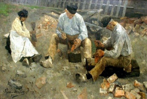 Stone Cutters | Floris Verster | Oil Painting