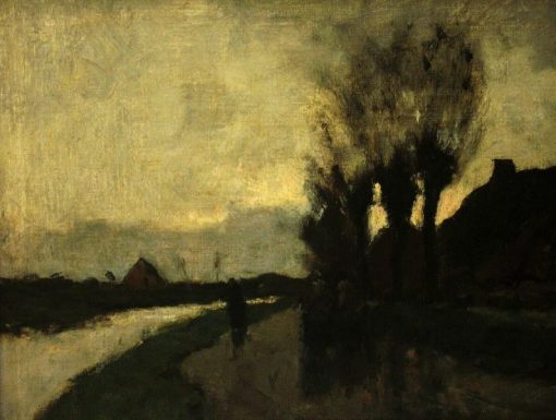 Evening Landscape near Kortenhoef | Floris Verster | Oil Painting