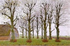 Farm-house near Laren | Ferdinand Hart Nibbrig | Oil Painting