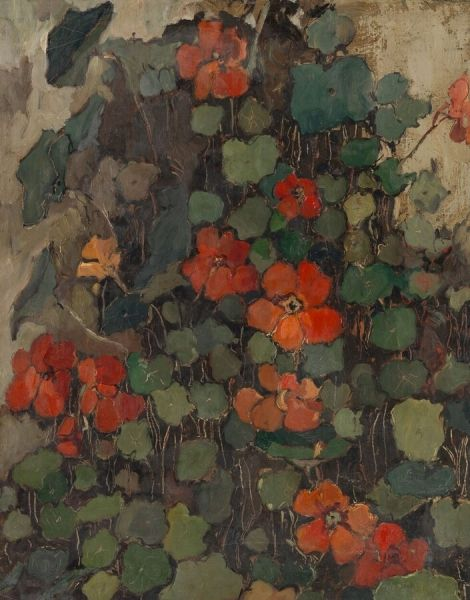 Nasturtiums | Dick Ket | Oil Painting