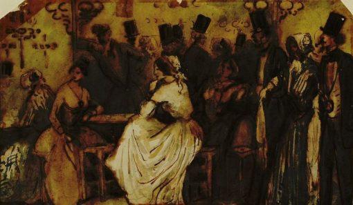Au café | Constantin Guys | Oil Painting