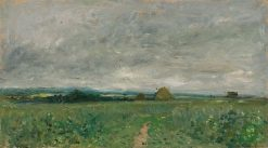 Field of Wheat under a Stormy Sky | Charles Francois Daubigny | Oil Painting