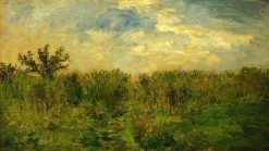 The Young Corn'(also known as The Fields) | Charles Francois Daubigny | Oil Painting