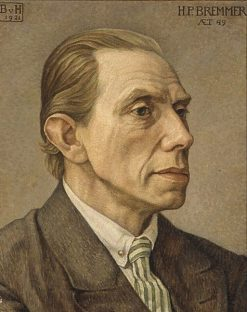 Portrait of H.P. Bremmer | Bertha van Hasselt | Oil Painting