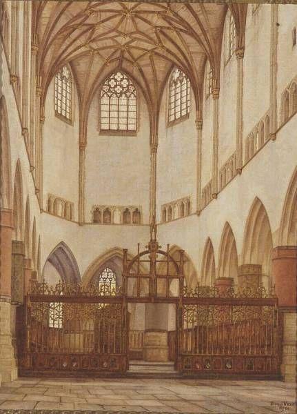 The Choir of the Church of St. Bavo at Haarlem   Bertha van Hasselt   Oil Painting