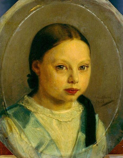 Portrait of Annie Allebé | August AllebE | Oil Painting
