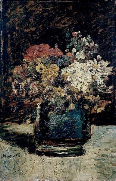 Vase of Flowers | Adolphe Joseph Thomas Monticelli | Oil Painting