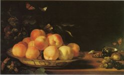 Still Life with Peaches | Abraham van Calraet | Oil Painting