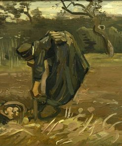Peasant Woman Harvesting Potatoes | Vincent van Gogh | Oil Painting