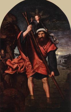 Saint Christopher | Quentin Massys | Oil Painting