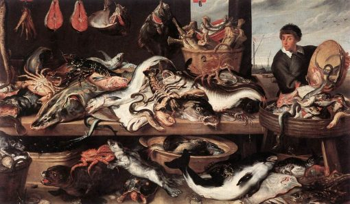 A Fishmonger's Stall   Frans Snyders   Oil Painting