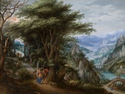 Landscape with Tobias and the Archangel Raphael | Denijs van Alsloot | Oil Painting