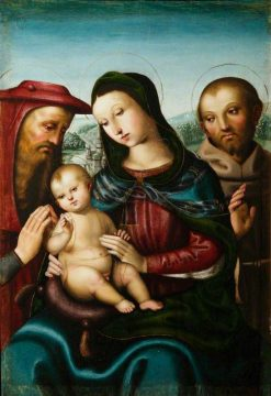 The Virgin and Child with Saints Jerome and Francis | Italian School th Century   Unknown | Oil Painting