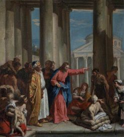 Christ Healing the Lame Man at the Pool of Bethesda | Sebastiano Ricci | Oil Painting