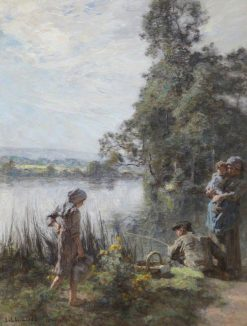 The Fisherman | LEon Augustin Lhermitte | Oil Painting