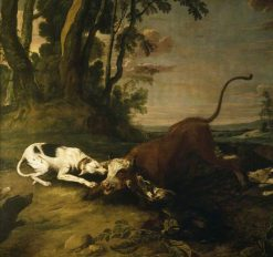 Hounds Attacking a Bull | Frans Snyders | Oil Painting