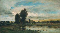 French River Scene | Charles Francois Daubigny | Oil Painting