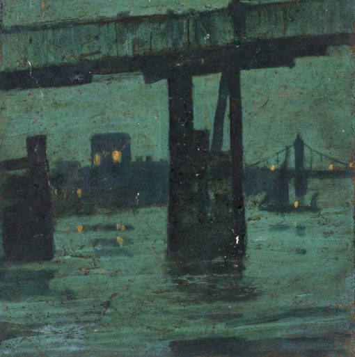 Old Battersea Bridge at Night | Walter Greaves | Oil Painting