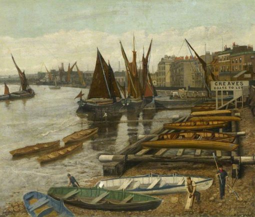 Greaves' Landing Stage | Walter Greaves | Oil Painting