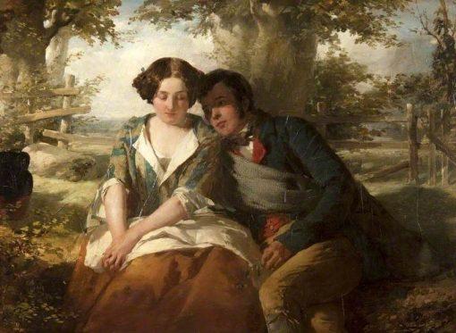 Robert Burns and Highland Mary | Thomas Faed RA HRSA | Oil Painting