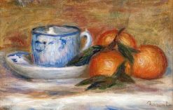 Still Life: Oranges and Teacup | Pierre Auguste Renoir | Oil Painting