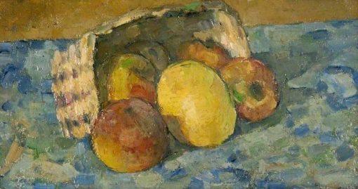 Overturned Basket of Fruit   Paul CEzanne   Oil Painting