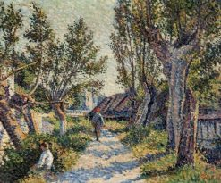 Landscape with Willow Trees | Maximilien Luce | Oil Painting