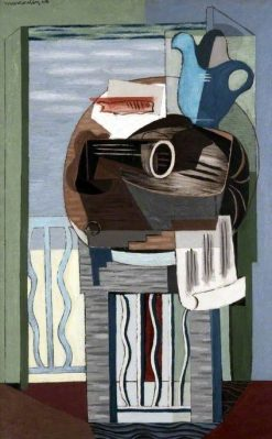 Still Life in front of a Balcony | Louis Marcoussis | Oil Painting
