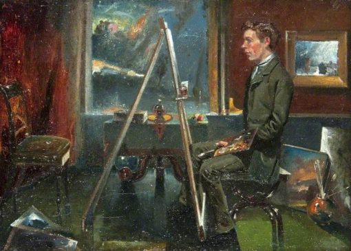 Artist at an Easel | John Quinton Pringle | Oil Painting