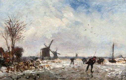Winter Scene in Holland | Johan Barthold Jongkind | Oil Painting