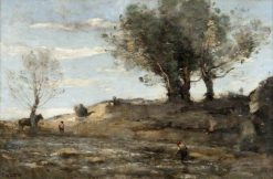 The Riverbank | Jean Baptiste Camille Corot | Oil Painting