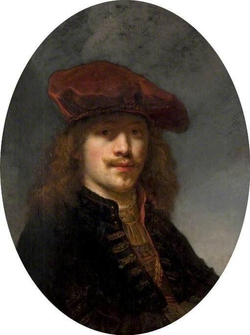 Self Portrait with Beret   Govaert Flinck   Oil Painting